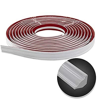 Flexible Trim Caulk Strip, Peel and Stick Trim for Molding, Tile Edge, Ceiling, Wall Corner, Baseboard, Floor(White)