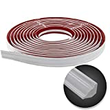 Flexible Trim Caulk Strip, Peel and Stick Trim for Molding, Tile Edge, Ceiling, Wall Corner, Baseboard, Floor(White)