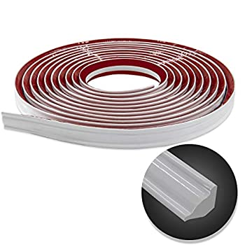 Flexible Trim Caulk Strip Peel and Stick Trim for Molding Tile Edge Ceiling Wall Corner Baseboard Floor White