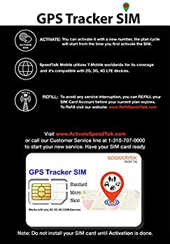 GPS Tracker Triple Cut SIM Card Starter Kit - No Contract  Universal SIM  Standard Micro Nano  for 4G Devices - Global Coverage