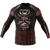 SMMASH Samurai Rashguard Hombre Manga Larga, Camisetas Hombre para MMA, Artes Marciales, Krav Maga, BJJ, K1, Karate, Material Transpirable y Antibacteriano, (L)