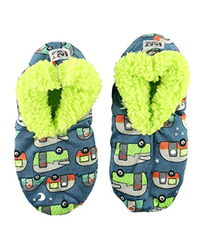 Product Image 1: Lazy One Fuzzy Feet Slippers for Women, Cute Fleece-Lined House Slippers, Night Out, Camper, Non-Skid