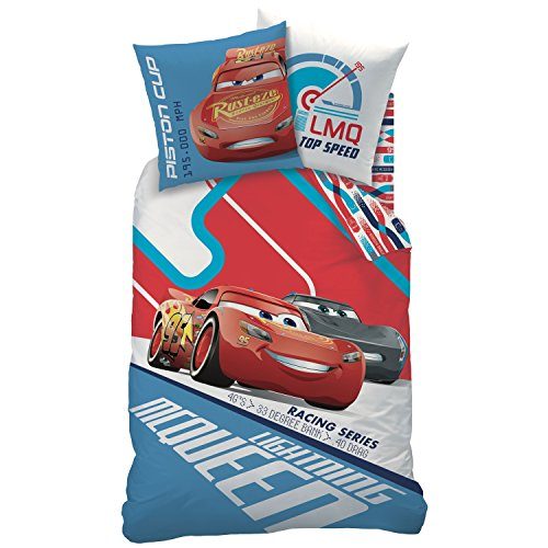 Disney Cars Bettwäsche-Set, Biber, Blau, 135 x 200 cm