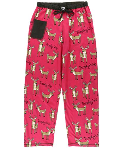 Lazy One Pajamas for Women, Cute Pajama Pants and Top Set, Separates, Trophy Wife, Deer, Animal
