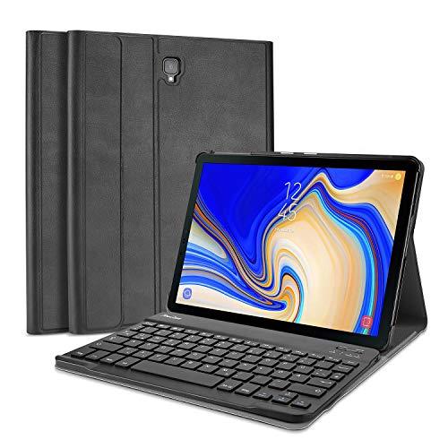 ProCase für Samsung Galaxy Tab A 10.5 Zoll Tastatur Hülle(SM-T590 /T595 /T597),QWERTZ-Deutsches Layout, Ultradünn Klappen Schutzhülle mit Magnet Abnehmbarer Kabellos Deutsch Tastatur