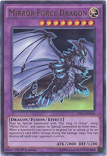 YU-GI-OH! - Mirror Force Dragon (DRL3-EN059) - Dragons of Legend: Unleashed - 1st Edition - Ultra Rare