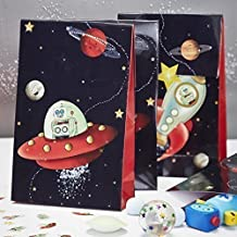 Ginger Ray Space Adventure Party Spaceship & Robot Kids Bags, Mixed