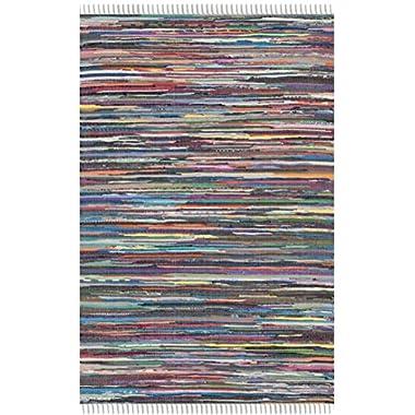 Safavieh Rag Rug Collection RAR121M Hand Woven and Multi Cotton Area Rug (4' x 6')