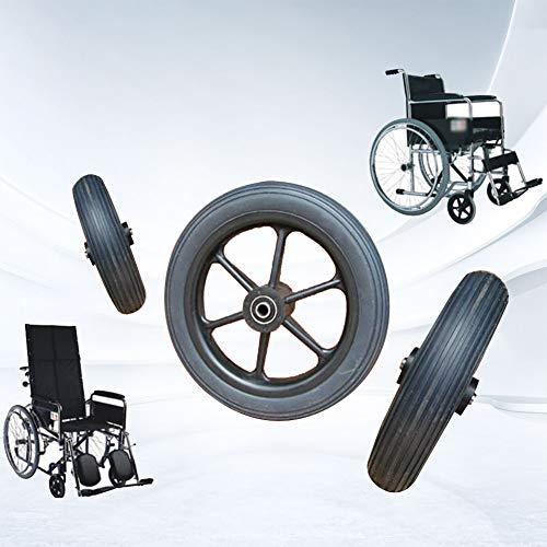 2 Stück Rollstuhl Front Caster Heavy Duty Rollstuhl Rollor Gehhilfen Rollstühle Ersatzrad, Verschleißfest, Stille, 8in(20.4cm)