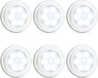 Novelty Place [Super Bright] LED Motion Sensor Lights - Cordless Battery Powered Built-in Magnets Optional Sticky Pads - M...