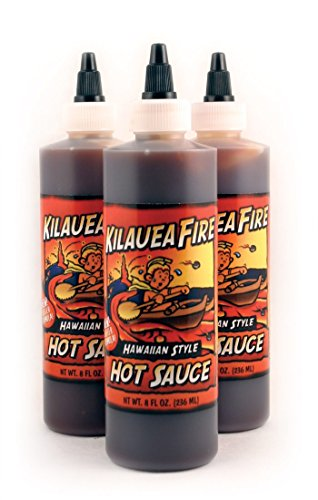 Kilauea Fire Hot Sauce 8 floz 3 Bottles
