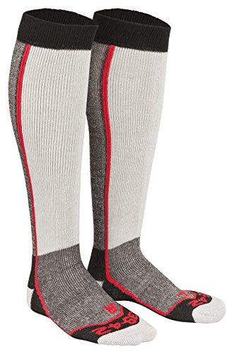 Tobeni 2 paar skisokken snowboard sokken thermolite skisokken voor dames en heren kleur rood maat 35-38