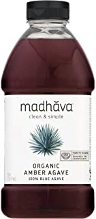 Madhava Naturally Sweet Organic Blue Agave Low-Glycemic Sweetener, Amber Raw, 46 Ounce (Packaging may vary)