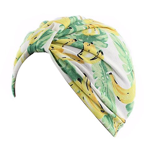 DECOU Kids Beautiful Picture Printed Knot Twist Pleasted Hair Turban Cap (6)