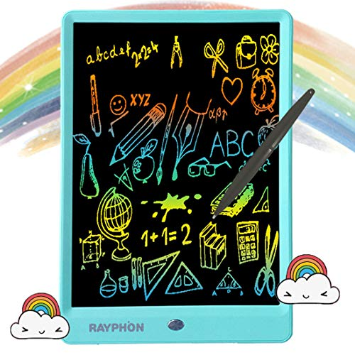 RAYPHON Writing Tablet 10 Inches LCD Writing Board Colorful Screen, Doodle Board Electronic Doodle Pads Drawing Board for Kids and Adults (Blue)
