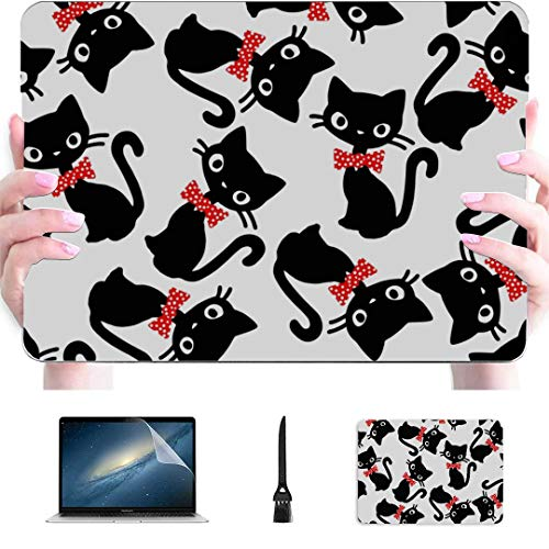 Laptop Cover Case Sticky Pleasant Lovely Cat Plastic Hard Shell Compatible Mac Air 13' Pro 13'/16' Laptop Hard Cover Protective Cover For Macbook 2016-2020 Version