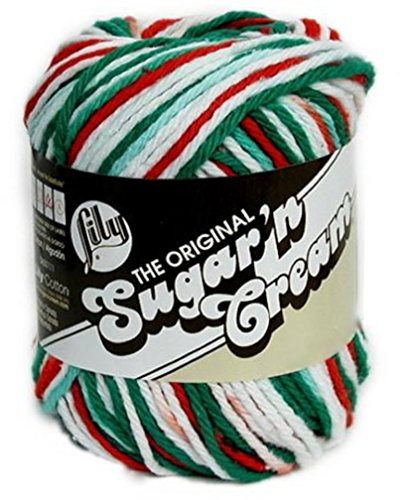 Lily Sugarn Cream Yarn Ombres (6-Pack) Christmas Mistletoe 102002-138