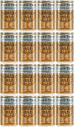 Fever-Tree Refreshingly Light Ginger Ale 16 x 150 ml (Paquete de 2 Total 16 Latas)