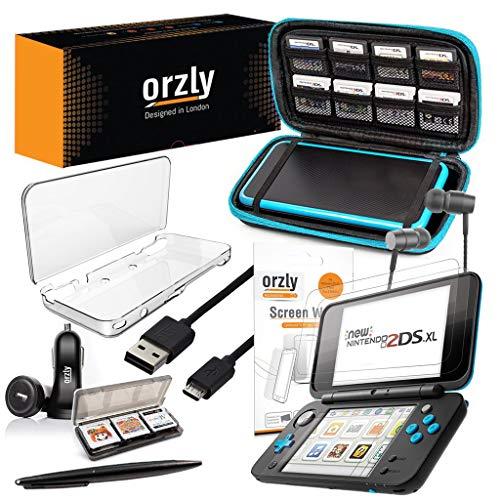 Orzly Accesorios 2DSXL, Pack New Nintendo 2DS XL [Paquete Incluye: Cargador de...