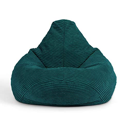 icon Mini Dalton Cord Sitzsack Stuhl, Cord Kids Sitzsack Stuhl, Flauschige Sitzsäcke für Kinder, Blaugrün