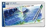 STAEDTLER Karat Aquarell 125 M48 - Lápices acuarelables (caja metálica, 48 unidades)