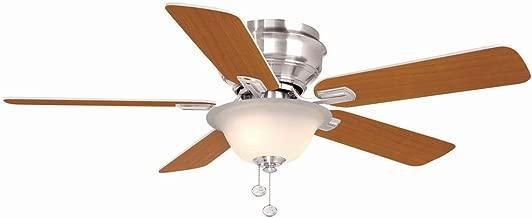 Hampton Bay Hawkins 44 in. Brushed Nickel Ceiling Fan