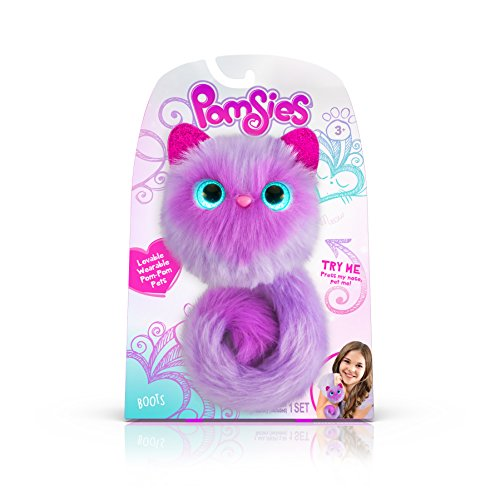 Pomsies 1881 Boots Plush Interactive Toys, One Size, Purple