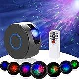 Sternenhimmel Projektor, LED Galaxy Sternenhimmel Projektor mit Fernbedienung Nebelwolken, 15 Modi Nachtlicht 7 Farben Projektorlampe für Erwachsene Baby Kinder Schlafzimmer Heimkino Party(Grau)