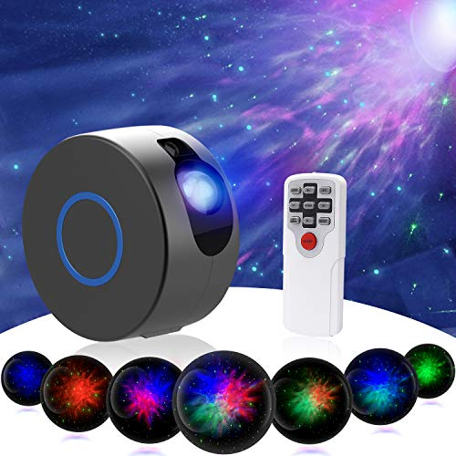 Star Night Light Projector, Sky Starry Galaxy Projector LED Nebula Cloud Light with Remote Control, 15 Lighting Modes for Game Rooms, Home Theatre, Children Kids Baby Adults Bedroom Party Dec- (Grey)
