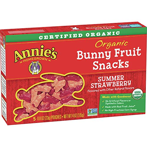 Annie's Organic Summer Strawberry Bunny Fruit Snacks, 5 ct, 4 oz