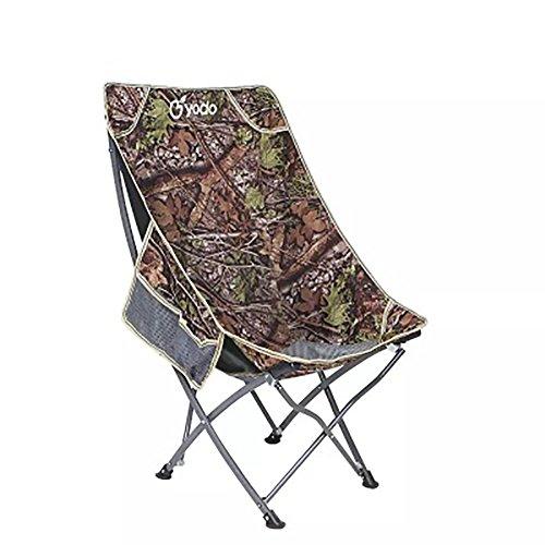 Be&xn Sillas de Camping plegables exteriores, Silla Moon Tubo de Hierro Portátil Camping Barbecue Silla de Playa Silla de Pesca-Camuflaje W53xH93cm(21x37inch)