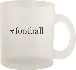 #football - Glass 10oz Frosted Coffee Mug