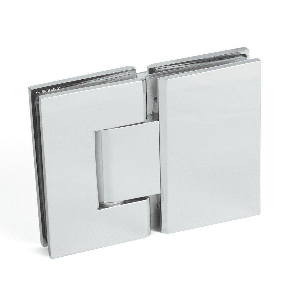 Nuevo sin marco Pivot para mampara de ducha de 180 grados cuadrado ...