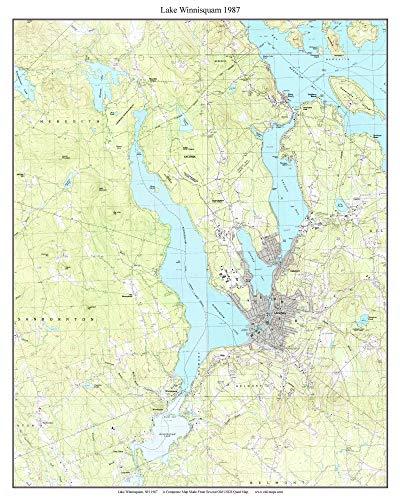 map of lake winnisquam nh Amazon Com Lake Winnisquam 1987 Usgs Old Topographical Map map of lake winnisquam nh