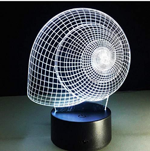 Slakkenhuis 3D-lamp visueel nachtlicht LED illusie slaapkamer lamp usb tafel lame kleurverandering licht als hoofddecoratie, app mobiele telefoon Bluetooth afstandsbediening kleur oogbescherming energiebesparende tafellamp