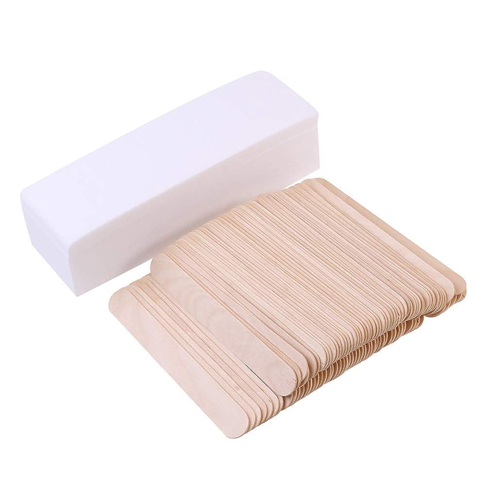 剛性現代ドレスHealifty 毛の取り外しのペーパー使い捨て可能なボディは100pcsワックスが付いているペーパーを取り除きます