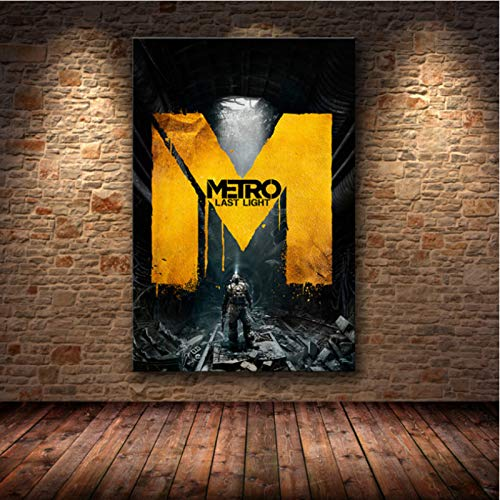 lubenwei Metro Exodus Game Poster Artwork Canvas Painting Wall Art Nordic Modern Home Decoration Poster For Living Room Print Pictures G-1674 50x70cm No Frame
