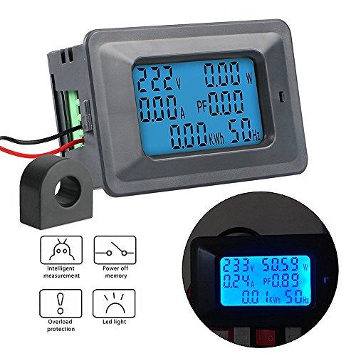 KKmoon 100A Medidor de Voltaje Digital Medidor de Energía LCD 5KW Factor de...