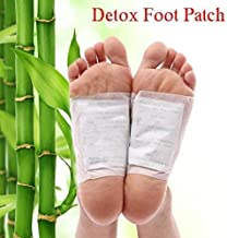 Wazdorf ABS Cleansing Toxin Remover Detox Foot Spa Pads for Men and Women (White) 10 Foot Patch