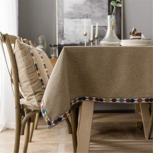 U/K Mantel Mantel Rectangular Mantel de Lino de algodón Ade