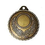 1 medalla de bronce cincelado dorada Corona de laureles, 67 mm de diámetro, recomendado soprtiva
