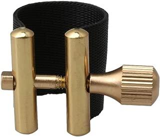 Lovermusic Braided Thread & Metal Alto Saxophone Sax Mouthpiece Ligature (Black)