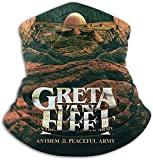 Aidyasd Greta Van Fleet Microfiber Neck Warmer Scarf Windproof Dust Proof Outdoor Sports Protection Suited for Cycling Camping Travel,Black,One Size