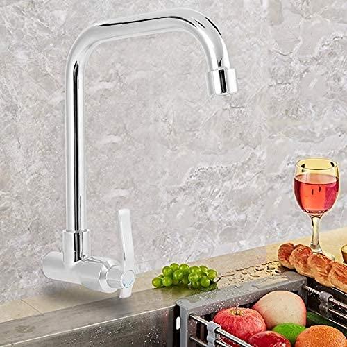 Grifo de cocina G1 / 2in para el hogar, grifos de lavabo de agua fría individuales, grifo de lavabo montado en la pared (sin manguera) robinet salle de bain