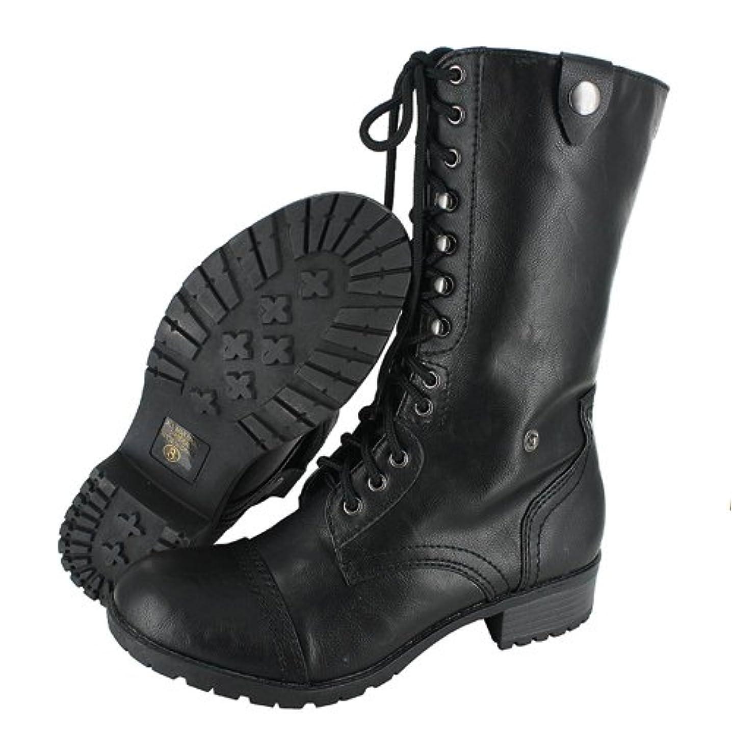 ラフアボート補助Soda Womens Oralee Combat Boots