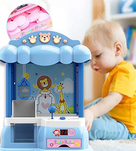 LV one Clip de Juguete Moneda de acaparamiento de la muñeca de la máquina de los niños de la muñeca de la máquina pequeña Mini Inicio de la muñeca de la máquina Que ase Música Juego Gacha,Azul