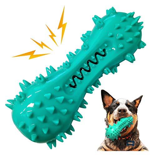 FENRIR Hund kaut Spielzeug Zahnbürstenreinigung, unzerstörbares Hundespielzeug Quietschendes Kausnackspielzeug Zähneputzen für kleine mittlere Welpen