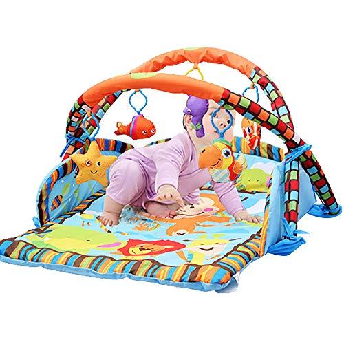 FZTX-LPX Alfombra de Juego para bebés con Luces y melodías, 3 en 1 Actividad Gimnasio Juguetes para bebés Regalo para recién Nacidos Edades 0~12M, Animal Multicolor Pertenece a Juguetes para bebés