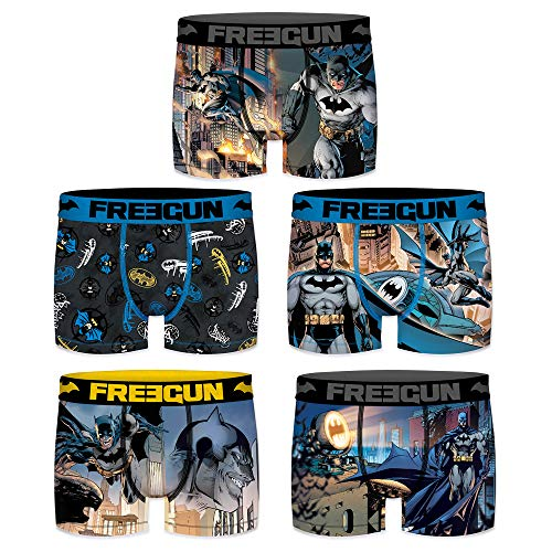 Freegun Herren Boxershorts DC Comics Justice League Batman 5 Stück Gr. XL, Batman-Comic-Paket