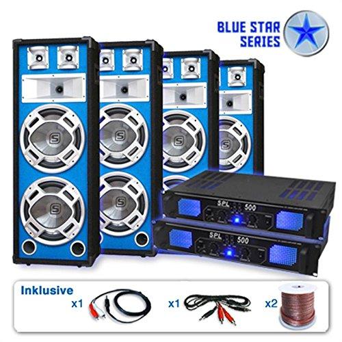 Unbekannt Blue Star Series PA Set Bassveteran Quadro 3200 Watt